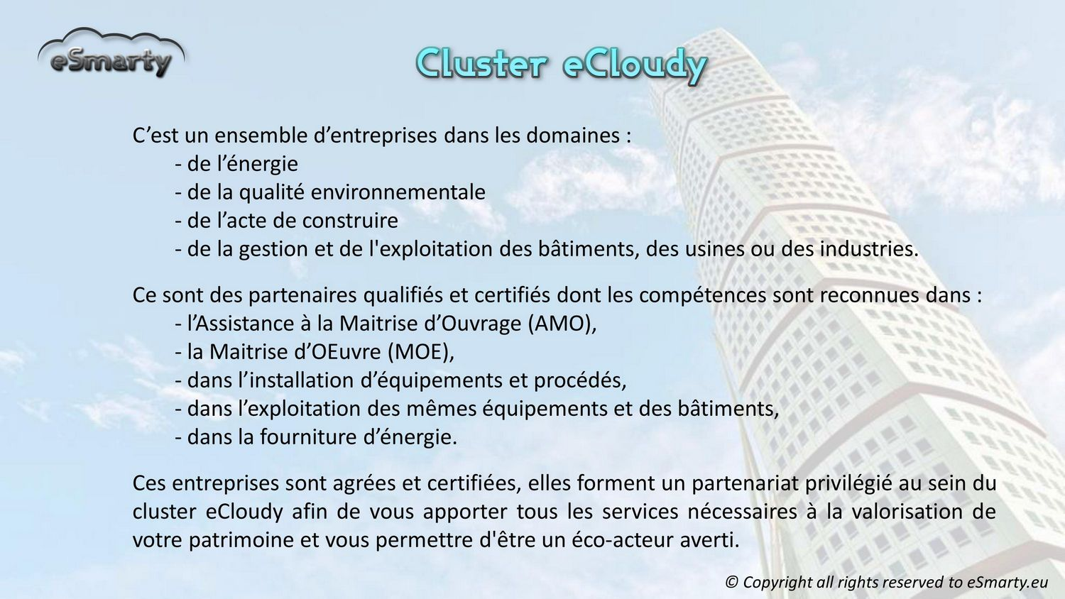 Le Cluster eCloudy